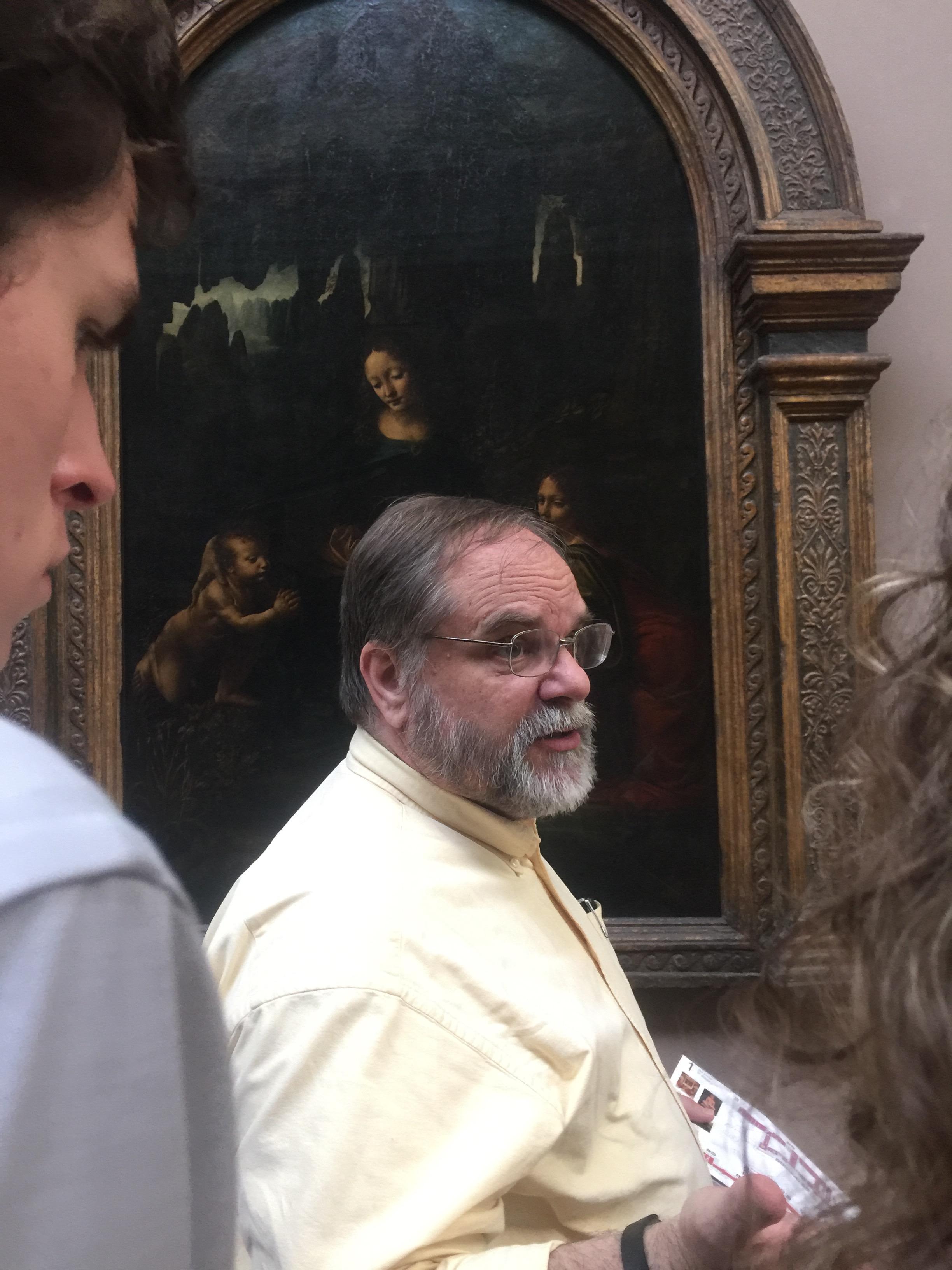 Director Hodges, at the Louvre, Paris
