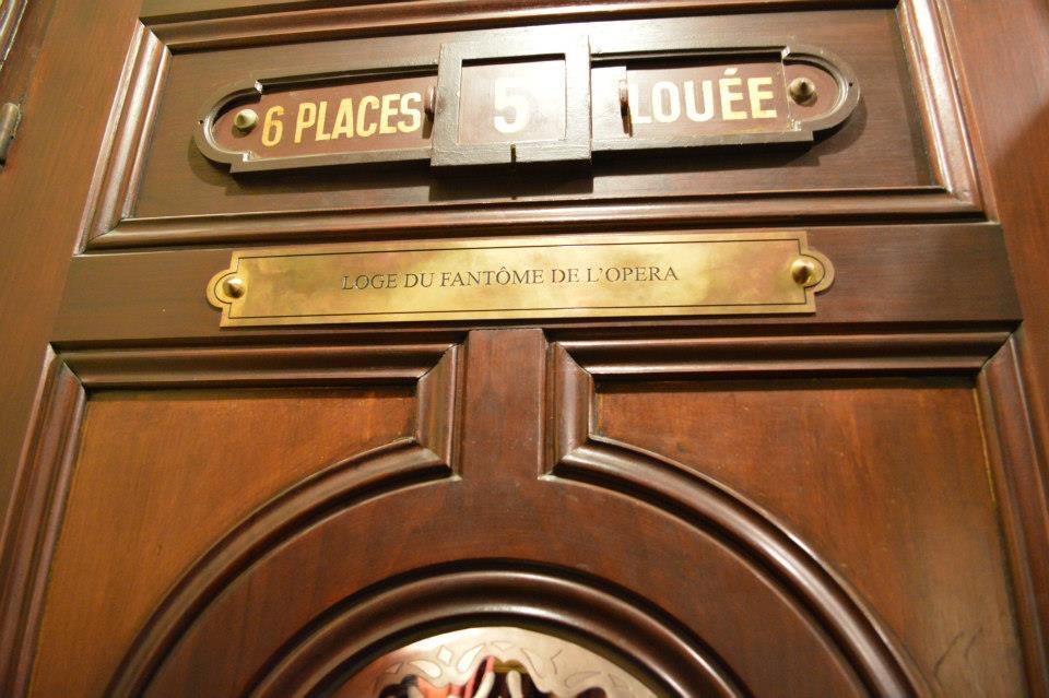 Phantom's Box, at Paris Opera Garner