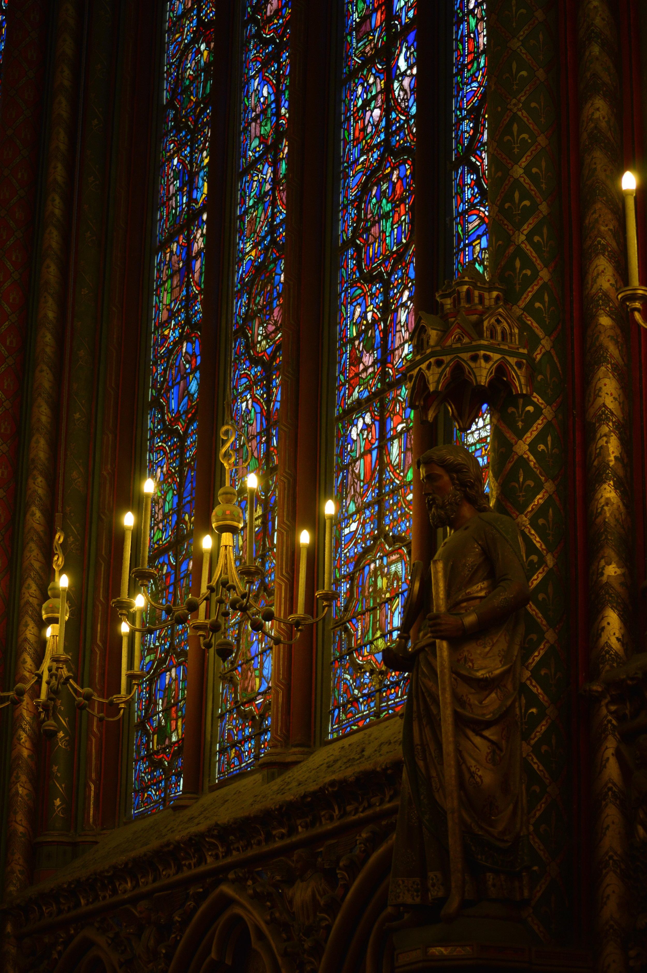 Interior, Sainte-Chapelle, Paris