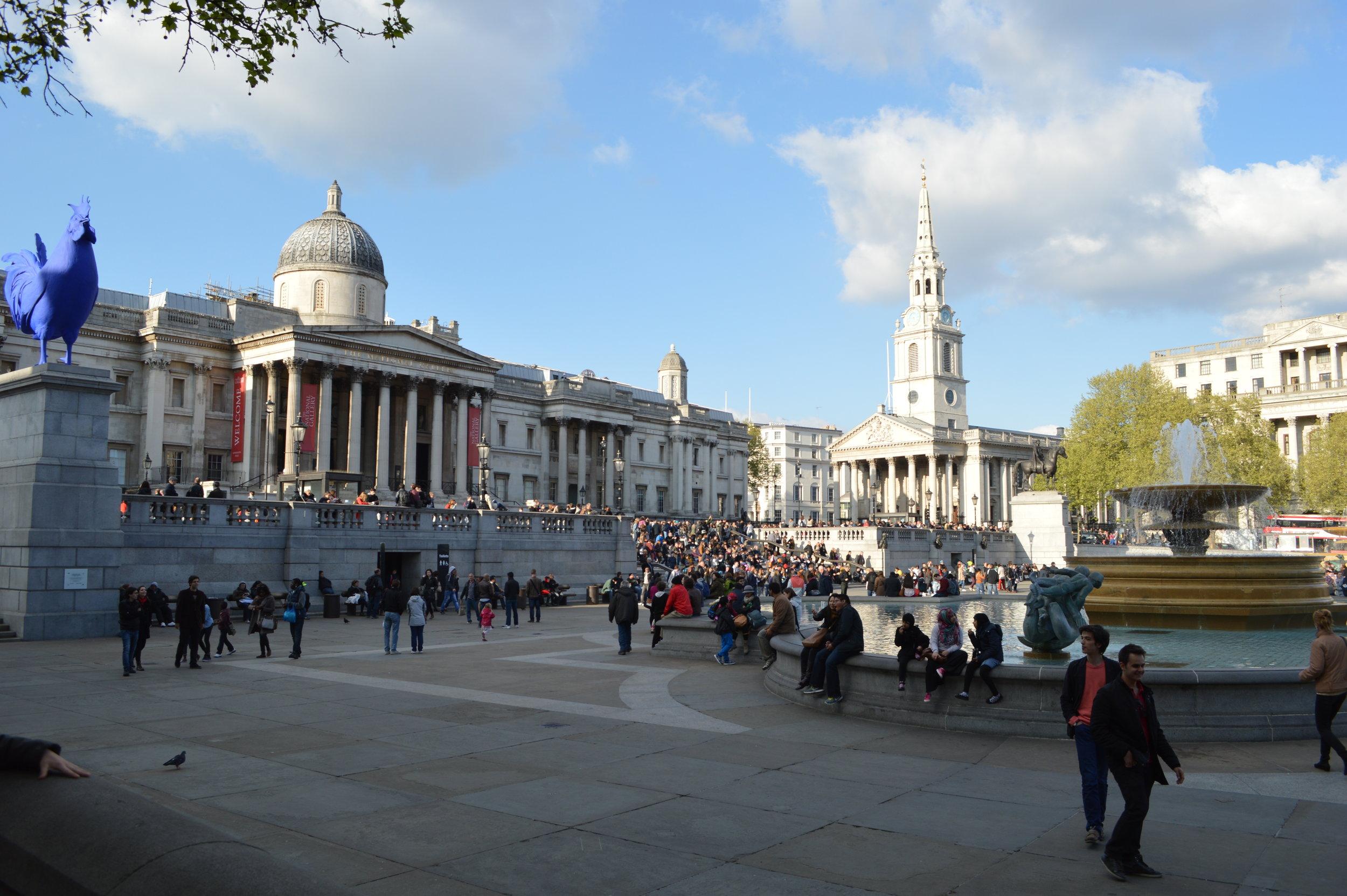 Trafalgar Square and National Gallery, London