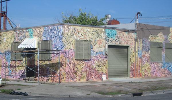 Mural created in the Visionary Mosaics class with Isaiah Zagar