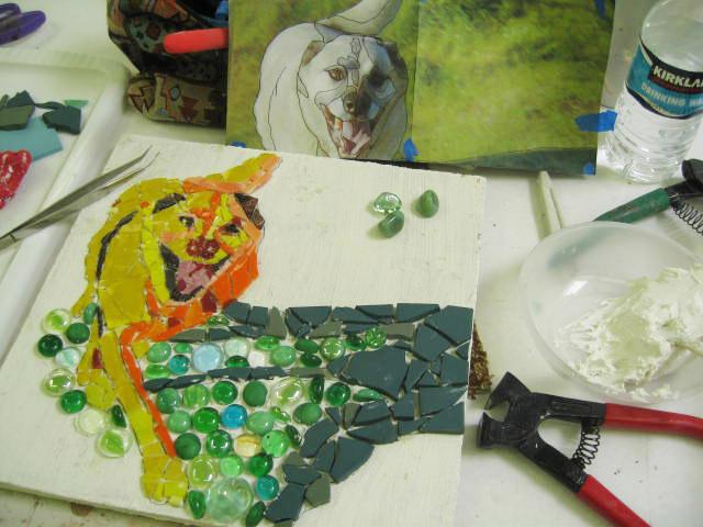 Student work in progress from Portraiture with Delaine Hackney