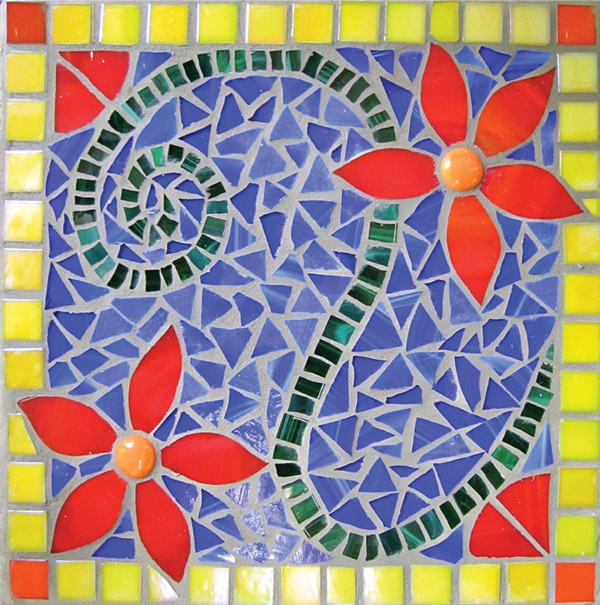 Introduction to Glass Mosaics - Student work