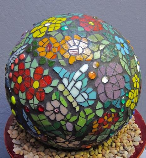 Mosaic Sphere by Carol Compton