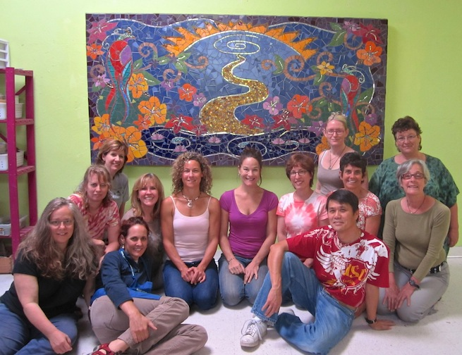 Mural Making Class with Laurel True. 2010