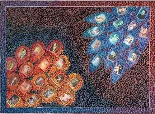 Tempered Glass mosaic by Ellen Blakeley