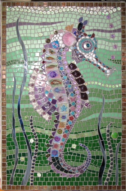 Lavender Seahorse by Jacquelyn Paull