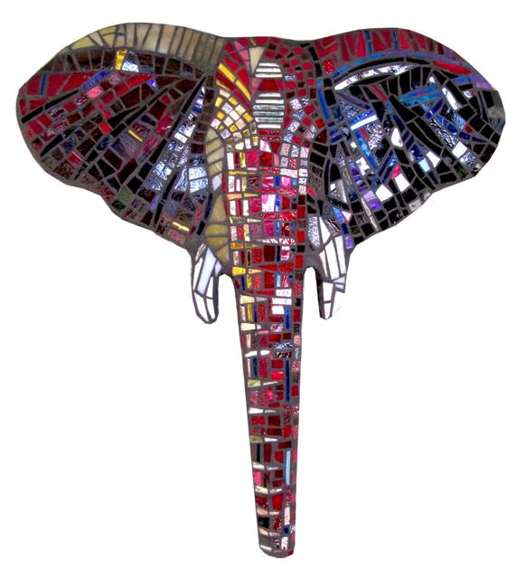 Elephant Head: Red by Kim Larson