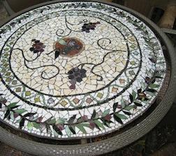 Mosaic table by class instructor Jill Stevenson Ritter