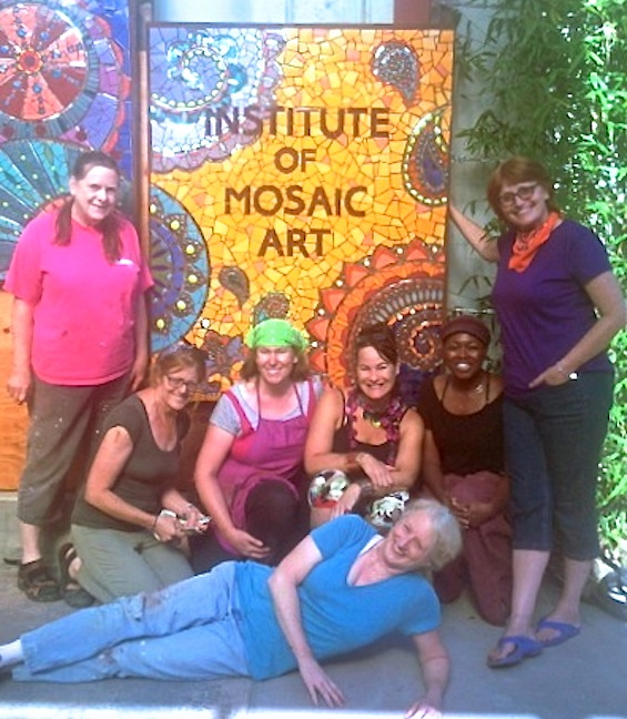 Mural Making Intensive class of 2014 with Laurel True! Hurray!