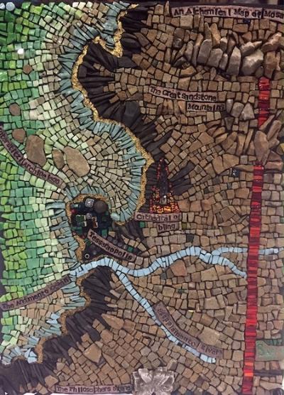"""A n Alchemical Map of Mosaics"" by Rachel Saeger."