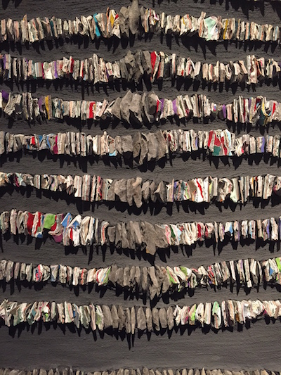 """Detail from """"Dialogue (The Burden of the Message) by Canadian artist Julie Sperling."""