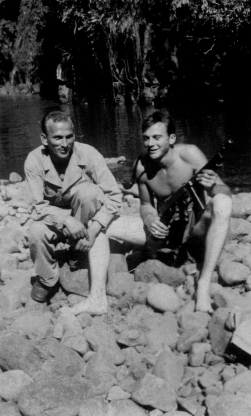 His spent a good deal of his negatives on friends,most likely in Hawaii, getting ready to start the Pacific campaign. I'm trying to find their relatives through Facebook. This was a happy time. After the campaign started, it changed him. He was never the same after the war.