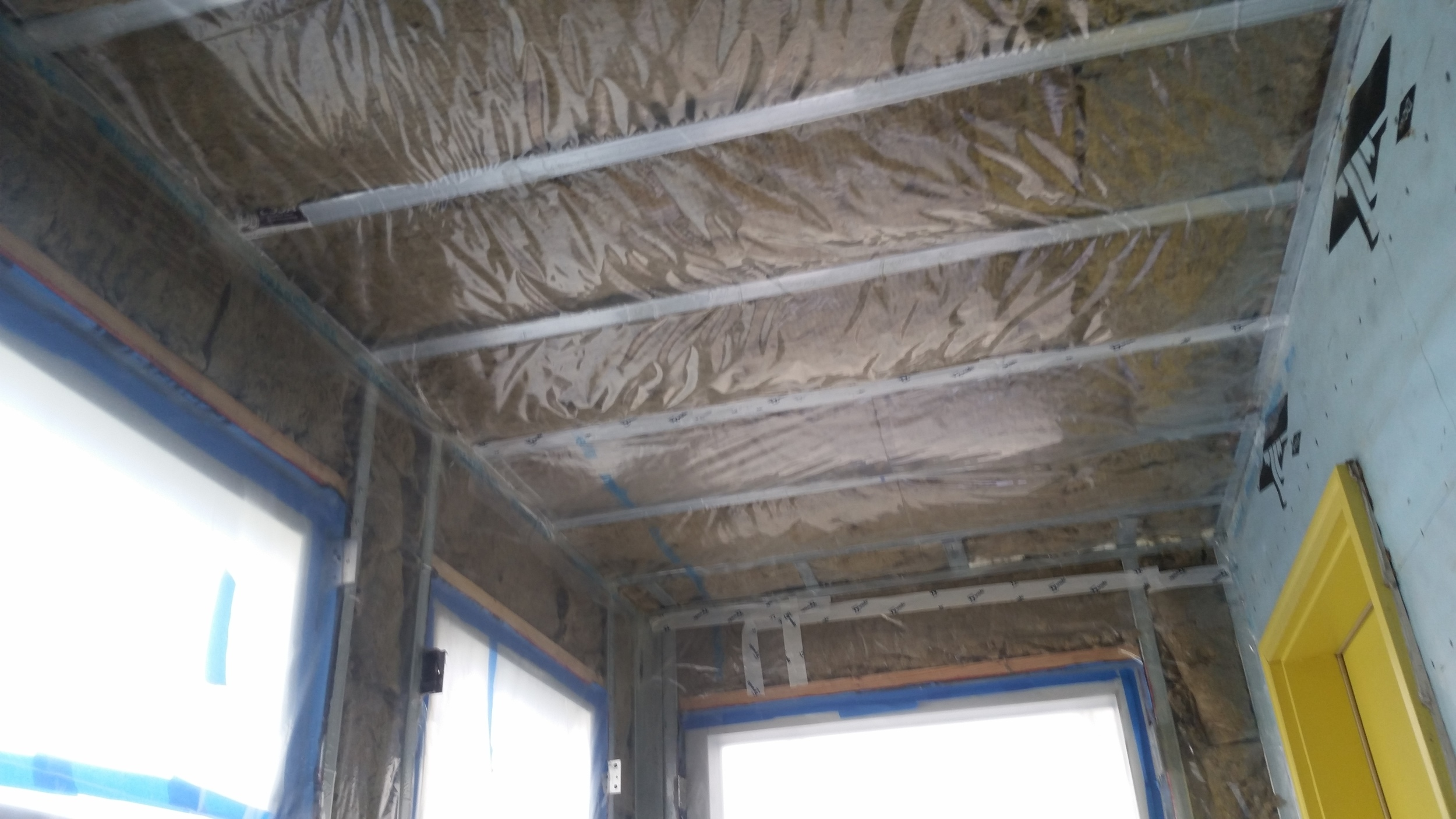Roxul and Membrain installation by Groundswell Contracting