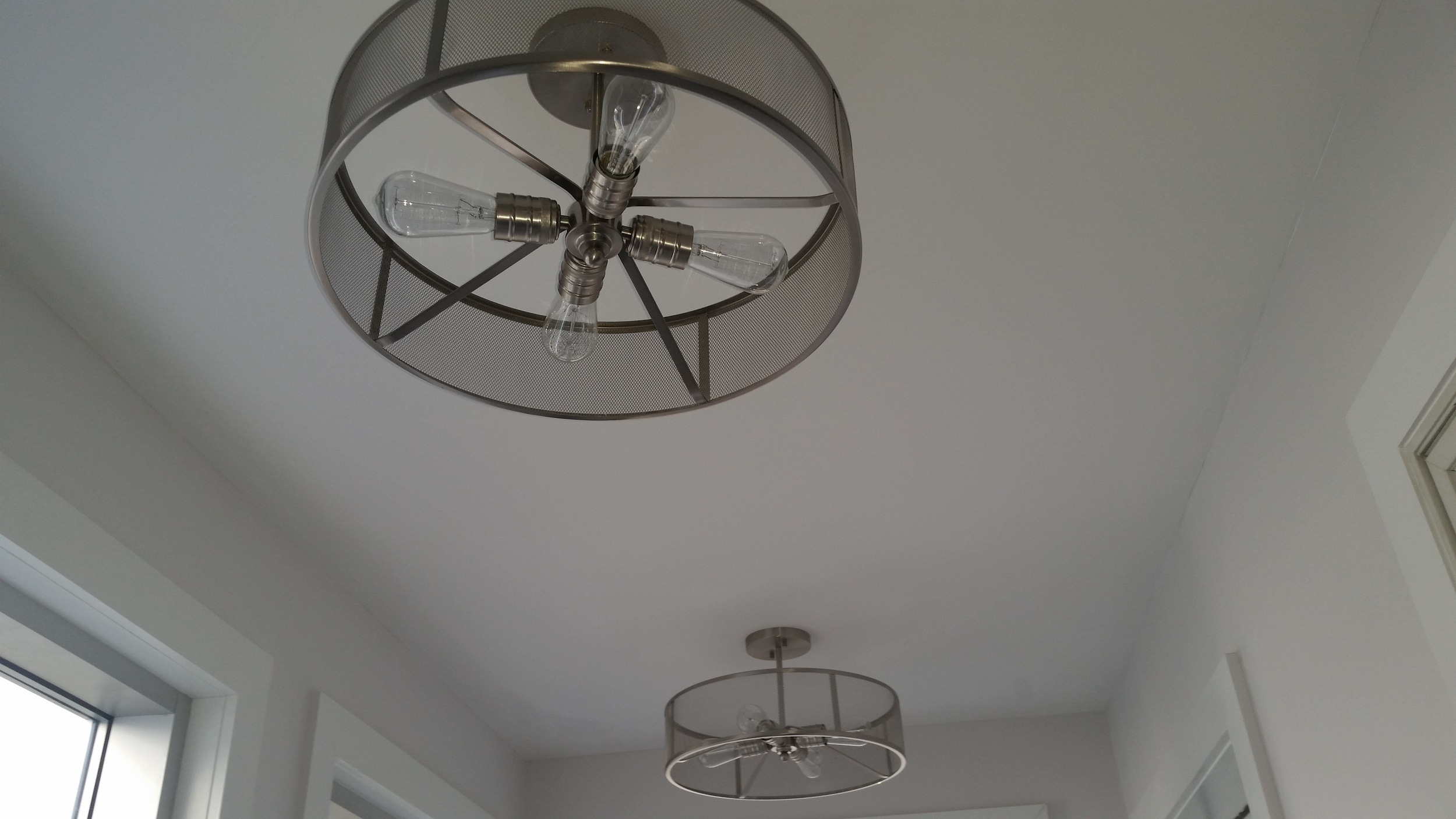 Interior lighting installation by Groundswell Contracting