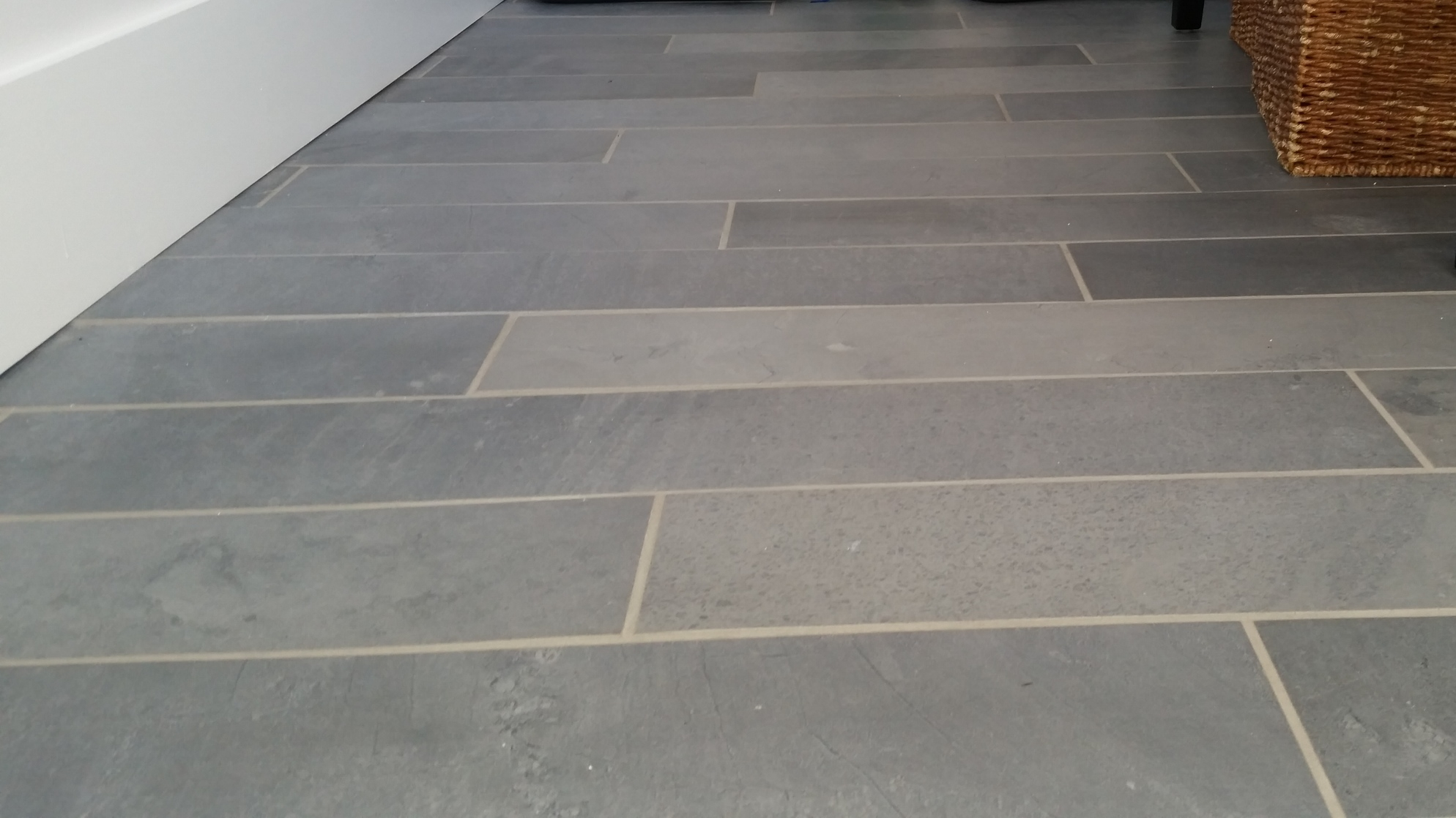 Porcelain Floor. Installation by Groundswell Contracting