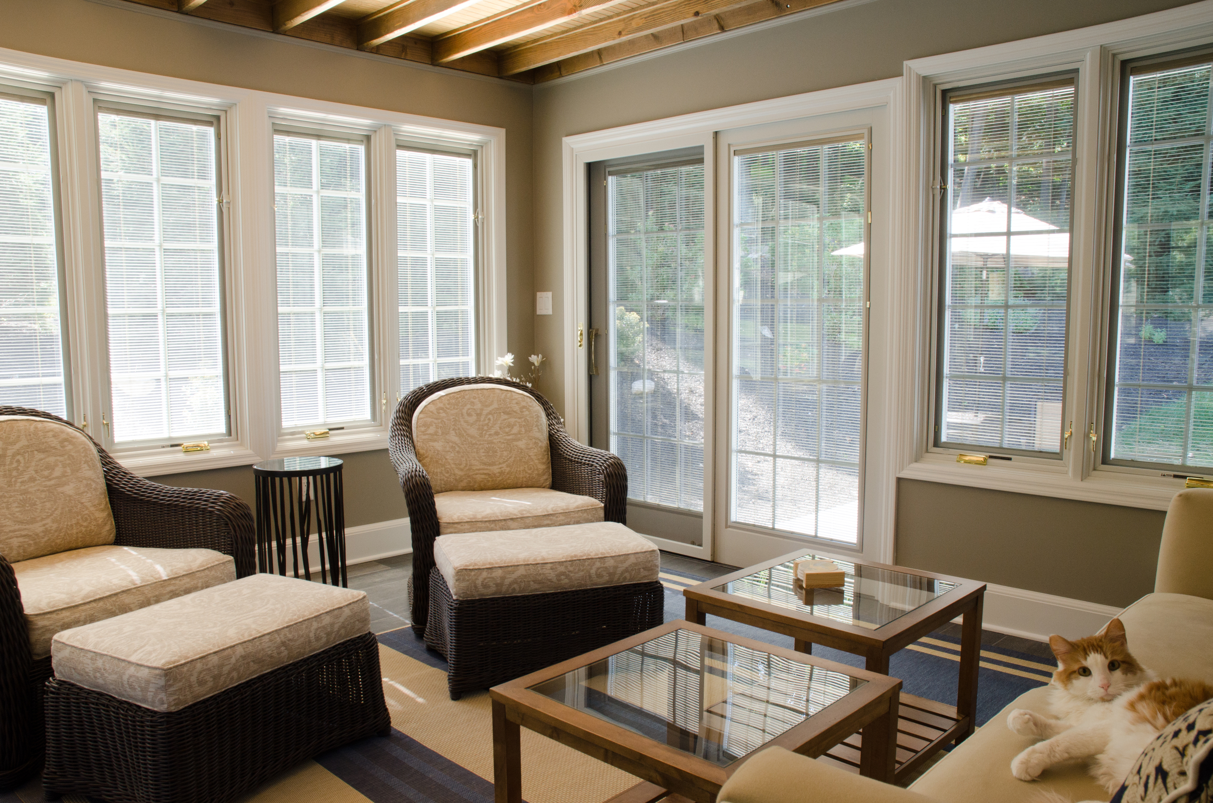 Custom sun room installation by Groundswell Contracting