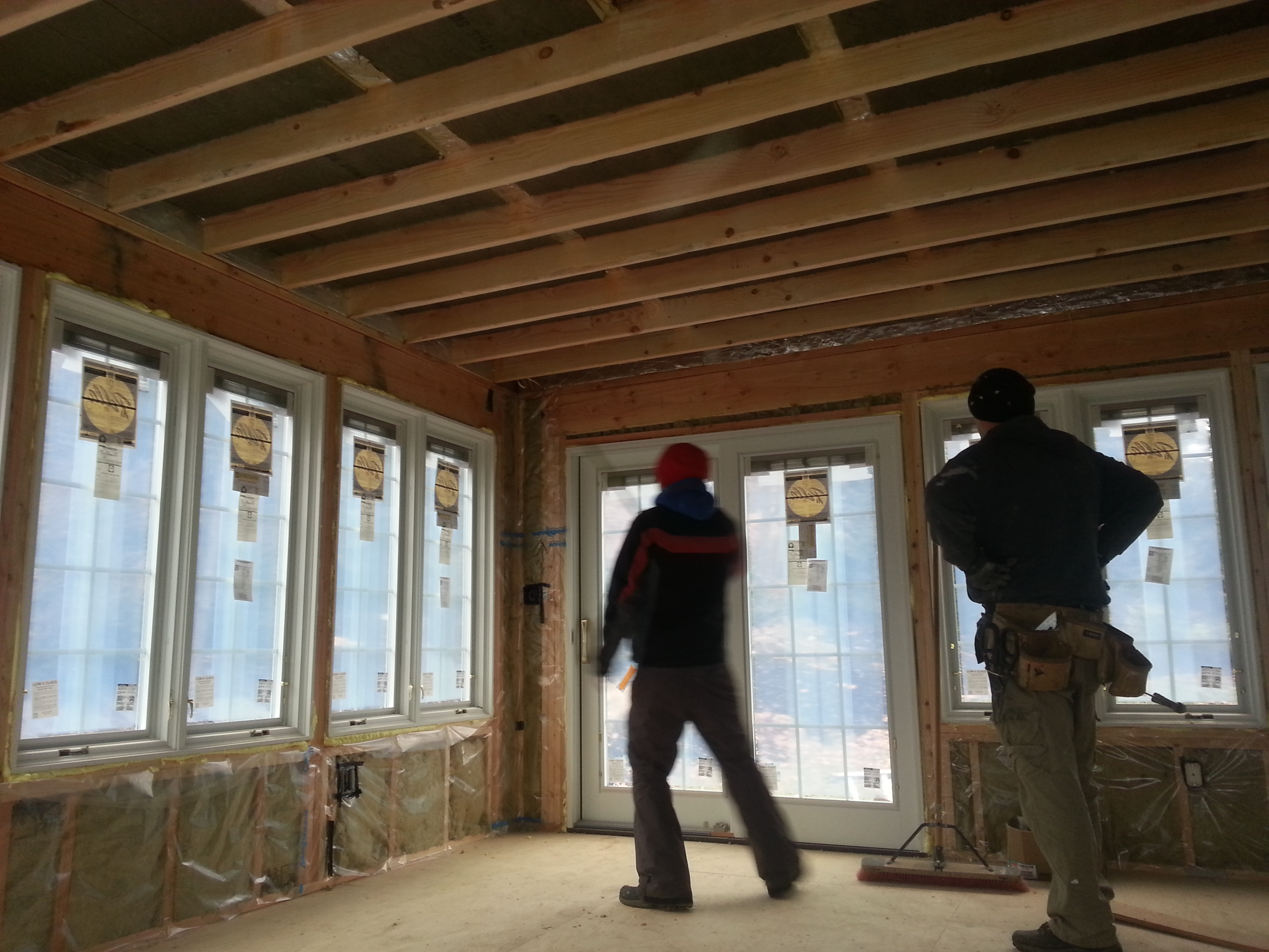 Custom sun room in progress by Groundswell Contracting