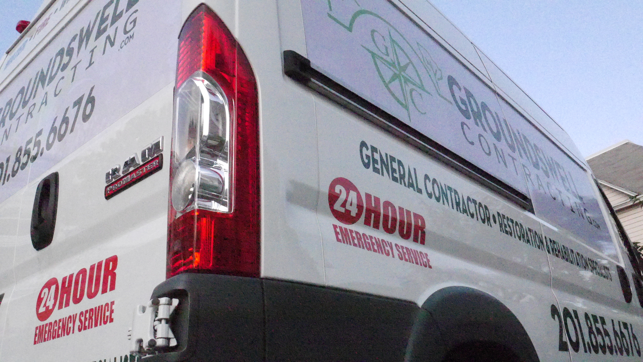 24-hour emergency water damage mitigation services by Groundswell Contracting