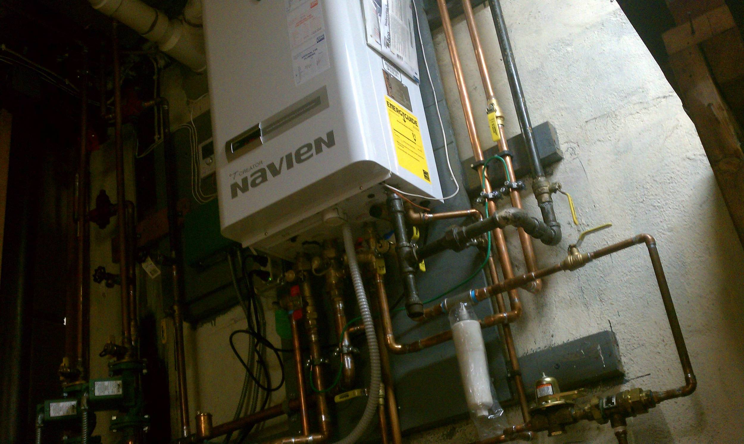 High Efficiency Combination Boiler and DHW by Groundswell Contracting