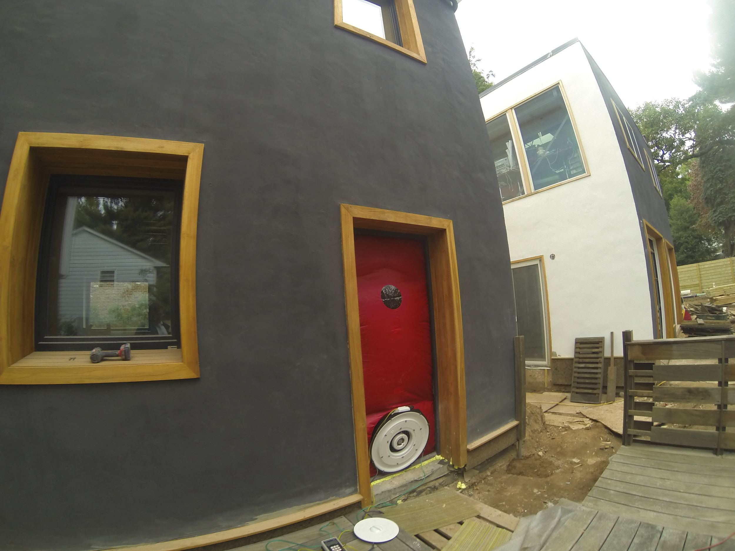 Zenesis House - Air Sealing Blower Door Diagnostics by Groundswell Contracting
