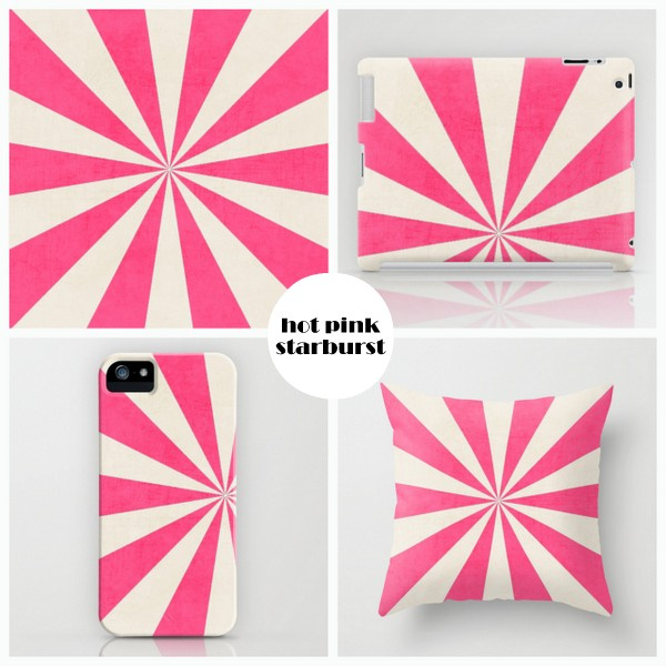 hot pink starburst