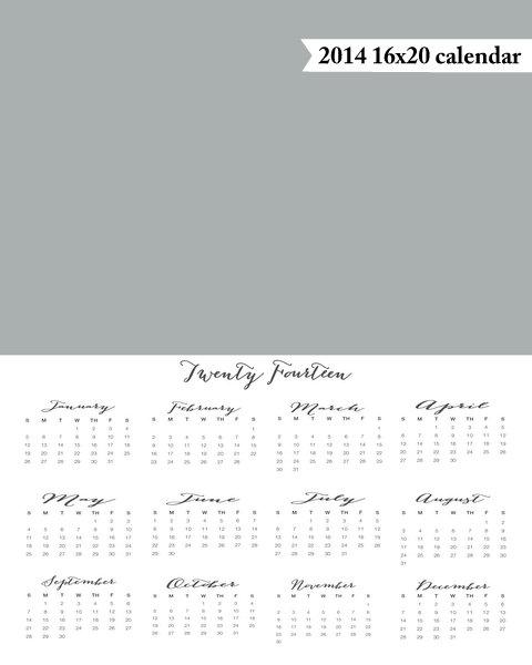 16x20 2014   calendar template