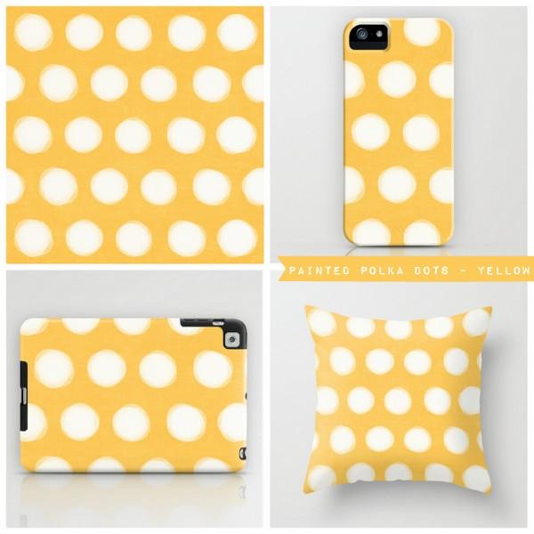 painted polka dots - yellow