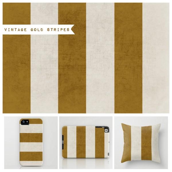 vintage gold stripes