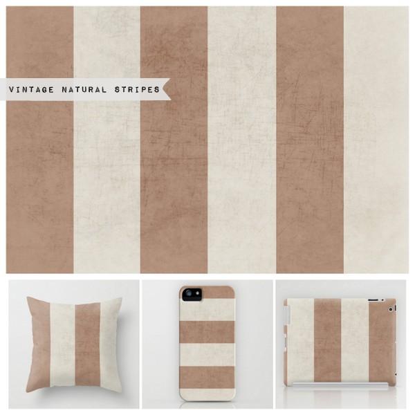 vintage natural stripes
