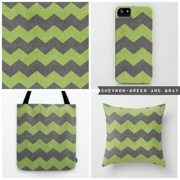 chevron-green and gray