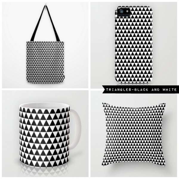 triangles - black and white
