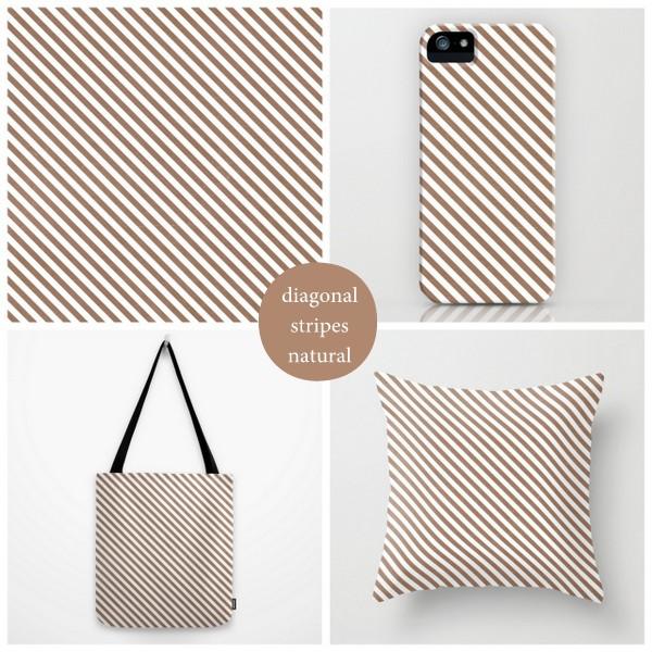 diagonal stripes - natural