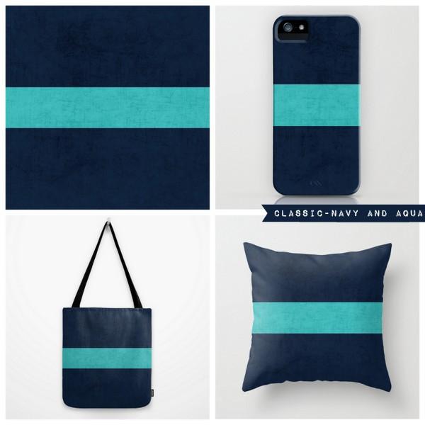 classic - navy and aqua