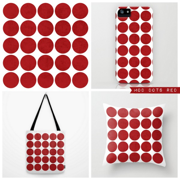 mod dots red