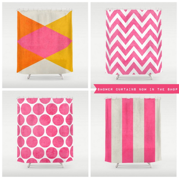 shower curtains now in the society6 shop
