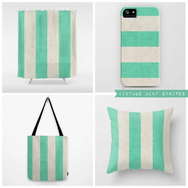 vintage mint stripes