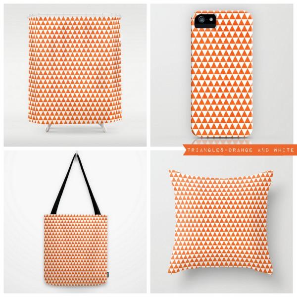 triangles - orange and white
