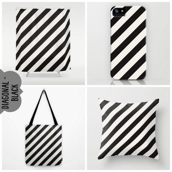 diagonal  - black