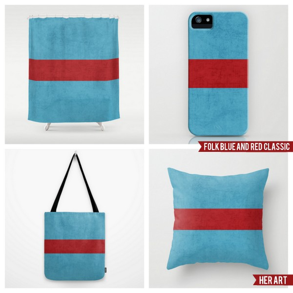 folk blue and red classic