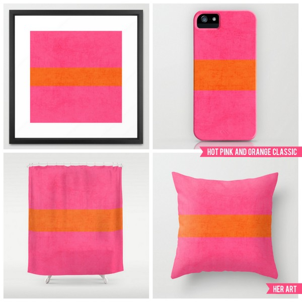 hot pink and orange classic