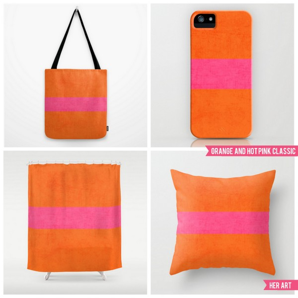 orange and hot pink classic