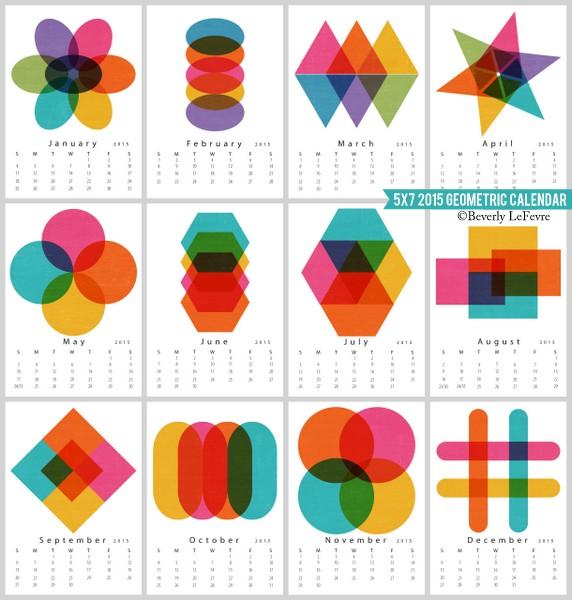 2015 Geometric Calendar
