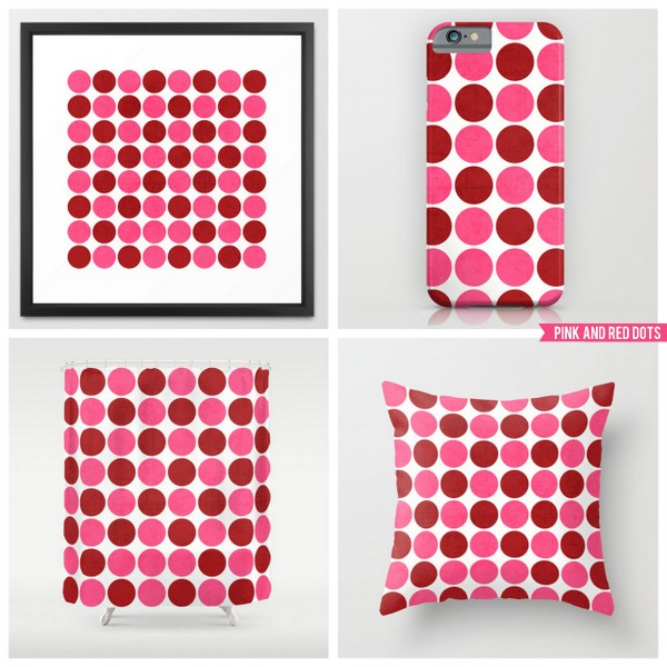 pink and red dots