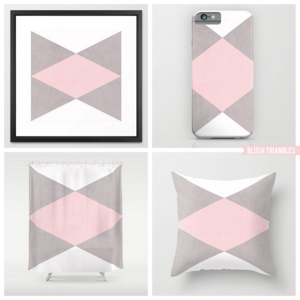 blush triangles