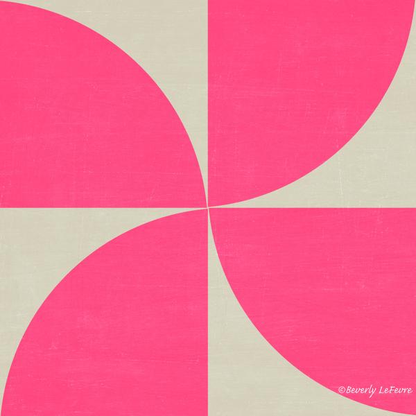 mod petals - hot pink