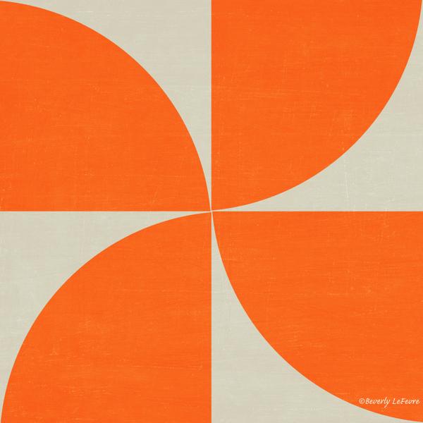 mod petals - orange
