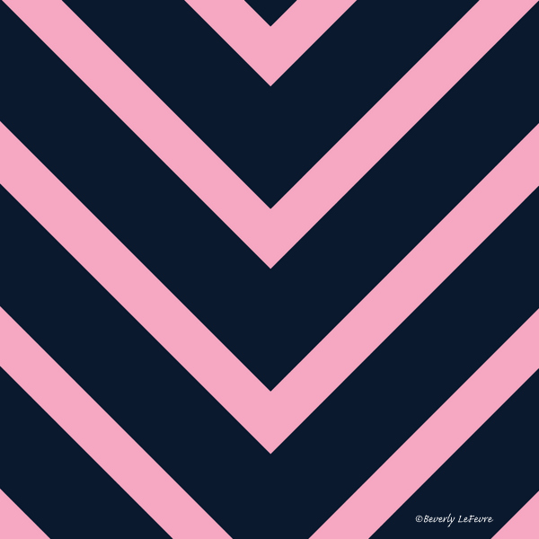 v lines - pink and navy