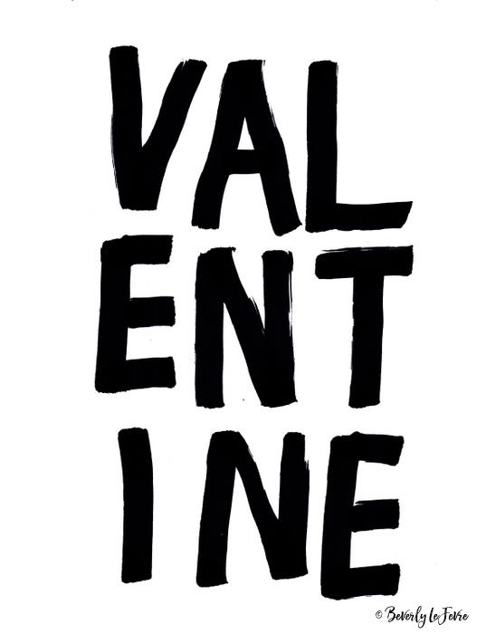 new valentine print