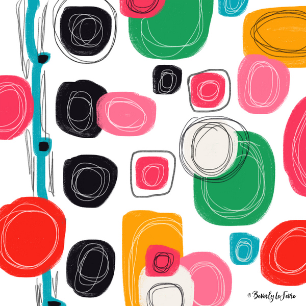 happy song - new abstract print